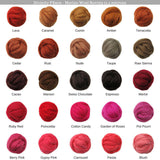 SALE! 21.5mic Merino Wool Roving , Color: Chiffon