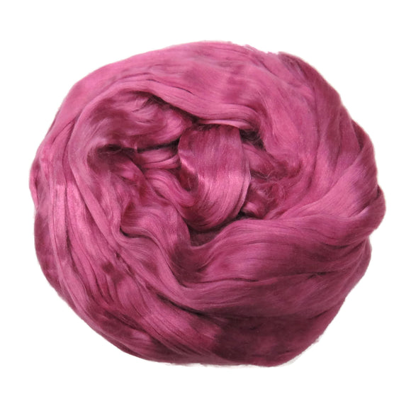 1 oz (28g) Mulberry Silk roving AA,  color: Orchid