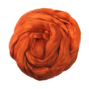 1 oz (28g) Mulberry Silk roving AA,  color: Marigold