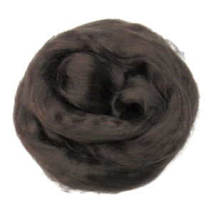 1 oz (28g) Mulberry Silk roving AA,  color: Ash (beaver)