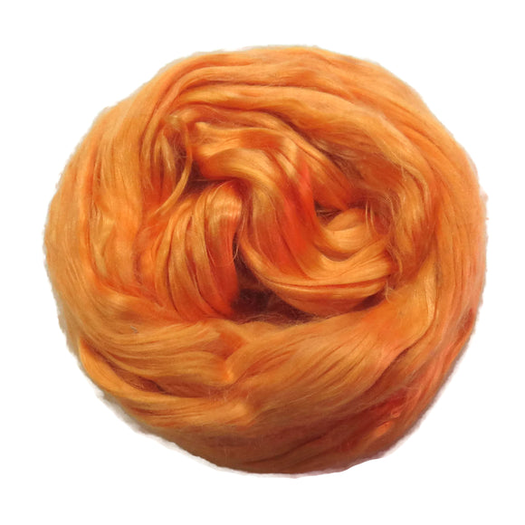 1 oz (28g) Mulberry Silk roving Grade AA,  color: Melon