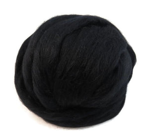 New! Natural undyed baby Alpaca wool roving , color Black