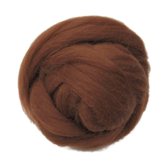 New! Natural undyed Baby Alpaca wool roving , color Reddish Brown