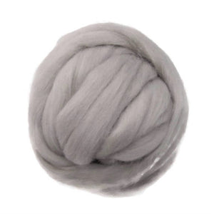 SALE! 21.5mic Merino Wool Roving , Color: Coastal Fog