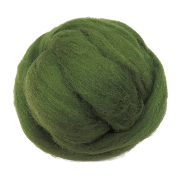 SALE! 21.5mic Merino Wool Roving , Color: Olivedrab