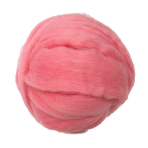 SALE! 21.5mic Merino Wool Roving , Color: Pink Salmon
