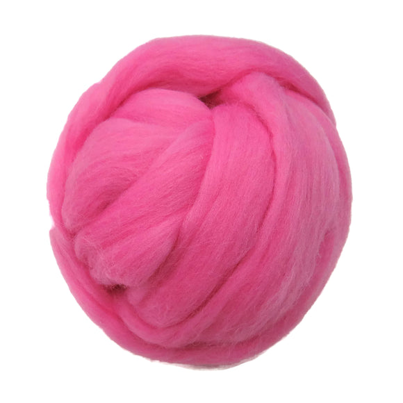 SALE! 21.5mic Merino Wool Roving , Color: Bubblegum