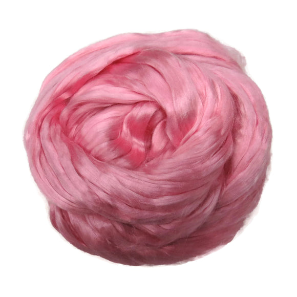 1 oz (28g) Mulberry Silk roving AA,  color: bridesmaid (powder)