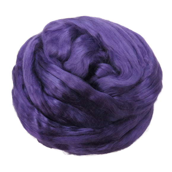 1 oz (28g) Mulberry Silk roving AA,  color: Violet