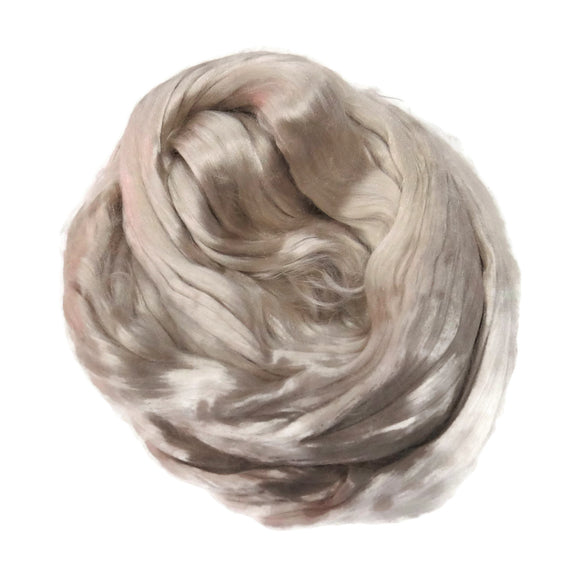 1 oz (28g) Mulberry Silk roving AA,  color: Sand