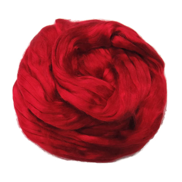 1 oz (28g) Mulberry Silk roving AA,  color: Passion