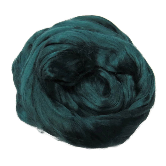 1 oz (28g) Mulberry Silk roving AA,  color: Ireland