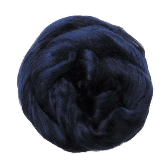1 oz (28g) Mulberry Silk roving AA,  color: Tuarag (Navy)
