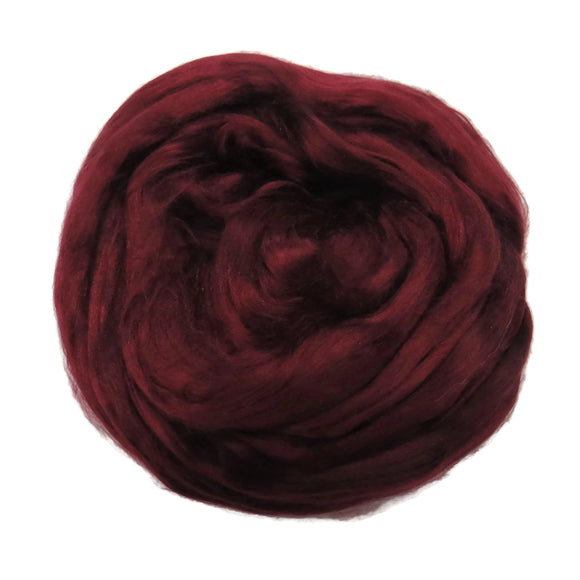 1 oz (28g) Mulberry Silk roving AA,  color: Soft Fruit