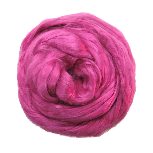 1 oz (28g)  Mulberry Silk roving Grade AA,  color: Dusty Rose