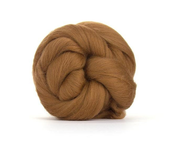 SALE! Superfine Merino 64s Wool Roving , Color: Sienna