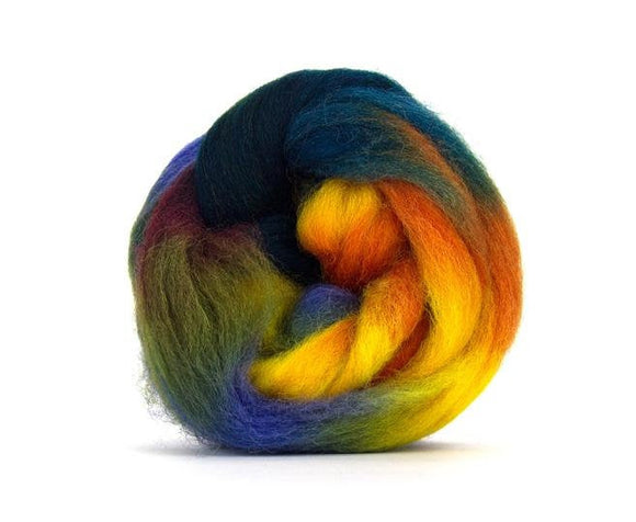 SALE! Space Dyed Wool Roving , Color: Neptune