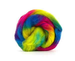 SALE! Space Dyed Wool Roving , Color: Venus