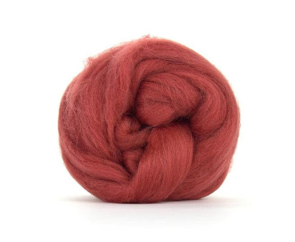 SALE! Superfine Merino 64s Wool Roving , Color: Damask