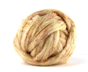 Tweed Wool Roving , blend  Crumpet