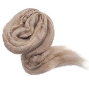 1 oz Tussah Silk roving , color: Sand