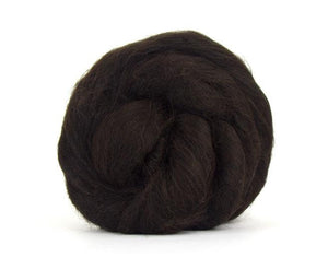 Baby Llama  Undyed Luxury roving, color: Dark Brown