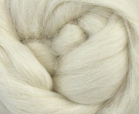 Baby Llama  Undyed Luxury roving, color: Natural White