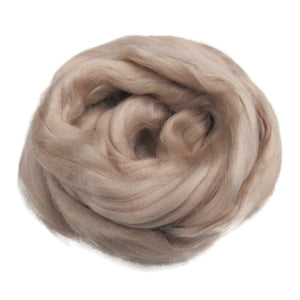 Viscose Fiber for felting ,spinning, paper making and art batts . color: Sand