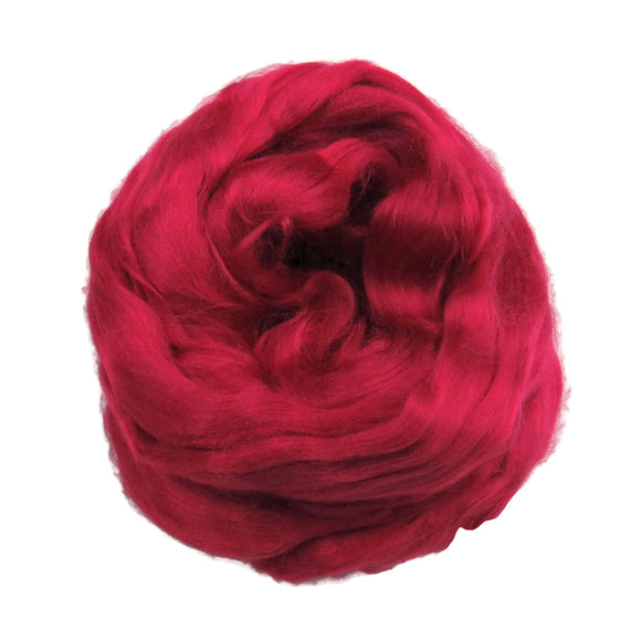 Viscose Fiber for felting ,spinning, paper making and art batts . color: Raspberry