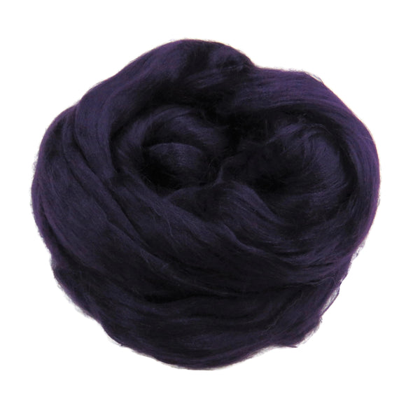 Viscose Fiber for felting ,spinning, paper making and art batts . color: Blackberry