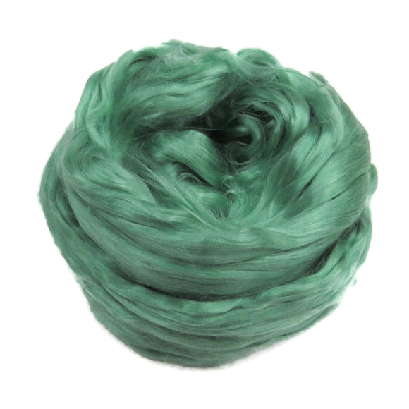 1 oz (28g) Mulberry Silk roving AA,  color: Frog