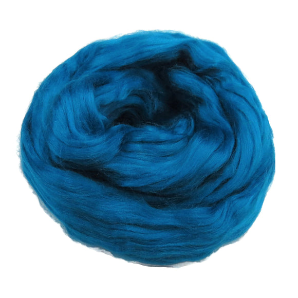 Viscose Fiber for felting ,spinning, paper making and art batts . color: Cobalt