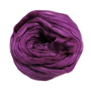 1 oz (28g) Mulberry Silk roving AA,  color: Purple