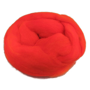 1oz Synthetic Fiber (Nylon) Roving , color: Orange