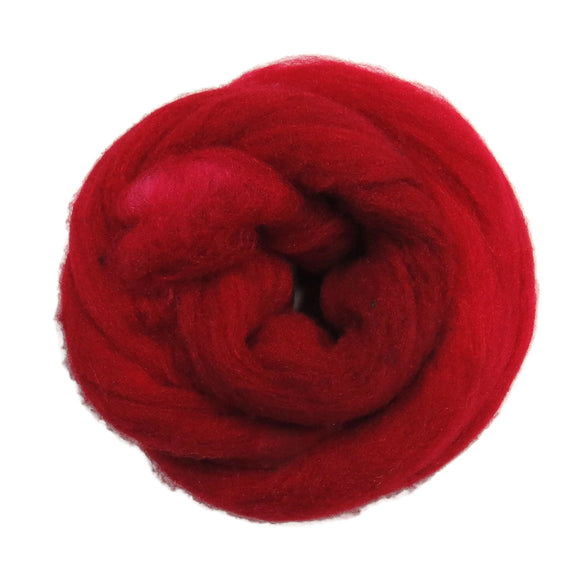 1oz Synthetic Fiber (Nylon) Roving , color: Passion red