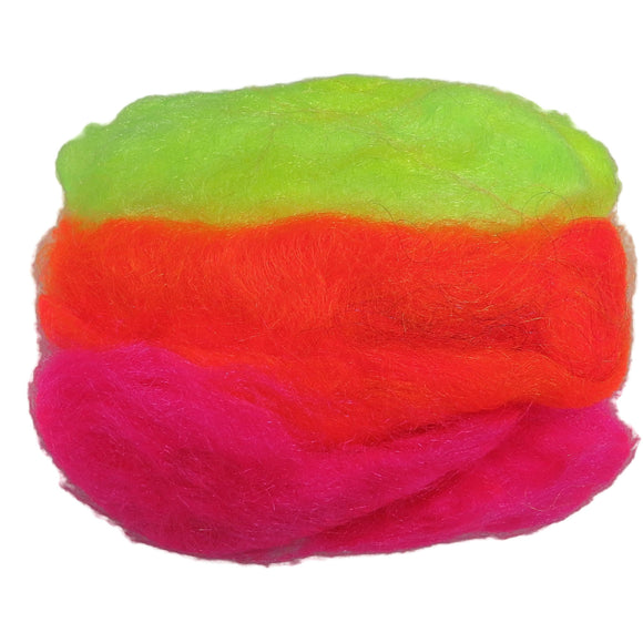 1oz Firestar fiber, Color (Neon Mix)
