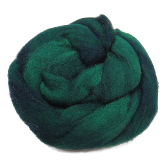 1oz Synthetic Fiber (Nylon) Roving , color: Forest green