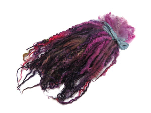 "1oz Premium Hand picked Teeswater wool locks, 12""-14"" , Extreme locks for tailspinning and felting (5b)"