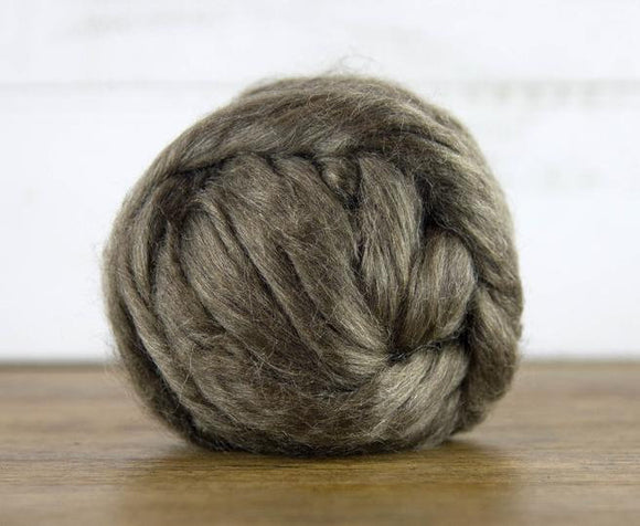New! 1 oz undyed Natural Peduncle Silk Roving  , color Natural Brown
