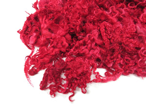 1oz, Prime Teeswater wool locks, JD-13  color: Fire Red