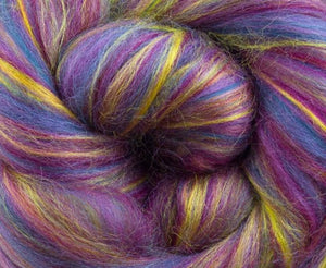 New! Blended  merino / Bamboo wool roving 2oz or 4 oz, color: Twinkle Twinkle