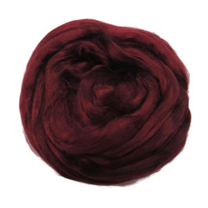 Viscose Fiber for felting ,spinning, paper making and art batts . color: Soft Fruit