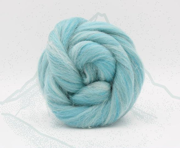 New! Blended Merino Alpaca Superfine merino wool roving mix 2oz or 4 oz, color: Matterhorn Blue