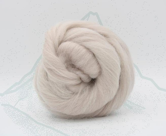 New! Blended Merino Alpaca Superfine merino wool roving mix 2oz or 4 oz, color: Mont Blanc Taupe