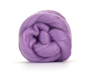 SALE! Superfine Merino 64s Wool Roving , Color: Lavender-2