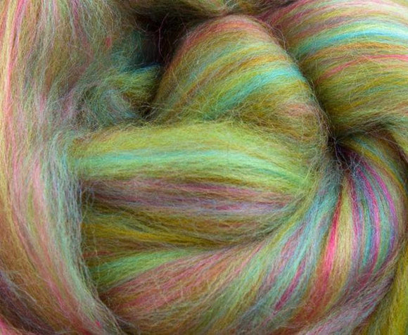 New! Blended merino / Bamboo wool roving 2 oz or 4 oz,  color: Higglety Pigglety