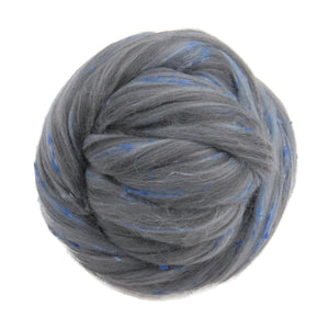 Merino,Tweed Wool Roving  and bamboo blend , color:  Fable