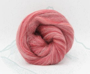 New! Blended Merino Alpaca Superfine merino wool roving mix 2oz or 4 oz, color: Monte Rosa Red
