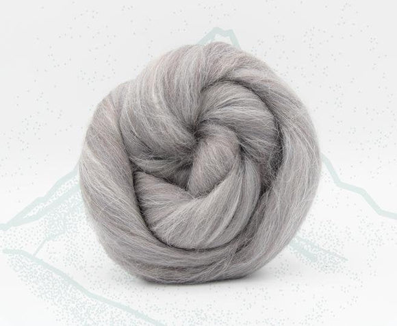 New! Blended Merino Alpaca Superfine merino wool roving mix 2oz or 4 oz, color: Eiger Gray