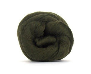 SALE! Superfine Merino 64s Wool Roving , Color: Moss
